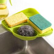 Tloowy Kitchen Gadget Organiser Sink Suction Corner Shelf Wall Cuisine Dish Rack Drain Shelf Sponge Holder