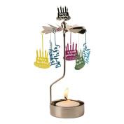 Happy Birthday Spinning Tea Light Candle Holder