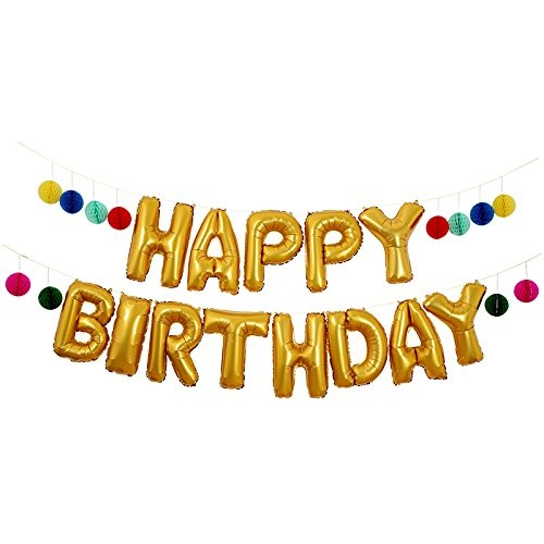 Meri 45 2705 HAPPY BIRTHDAY Balloon Garland Kit 61m Long By