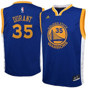Golden State Warriors Kids Kevin Durant Replica Road Jersey - Royal #35 ,
