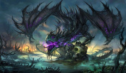 Zombie Dragon TCG playmat, gamemat 60cm wide 36cm tall for trading card game smooth cloth surface rubber base