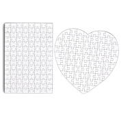 Set Of 4 Diy White Blank Puzzle 29cm X 20cm Create A Jigsaw Puzzle Sheets
