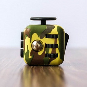 Fidget Toy Military Camouflage Cube to Relieve Anxiety & Stress for Work, Class, ADHD
