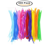 Mydio 200 Pack 30cm Chenille Coloured Pipe Cleaners for Arts and Crafts,Random Colour