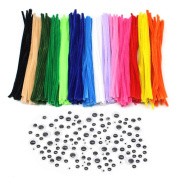 680pcs/lot Pipe Cleaners Chenille Stem and Googly Wiggle Eyes for DIY Crafts Decorations