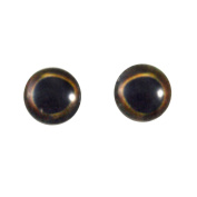 8mm Dark Glass Fish Eyes Pair Taxidermy Sculptures or Jewellery Making Crafts Set of 2
