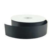 2.5cm - 1.3cm Wide Double Face Polyester Satin Ribbon - 50 Yard, Black