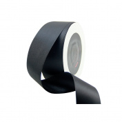 VATIN 2.5cm - 1.3cm Wide 50-Yards Long Double Face Solid Satin Ribbon Roll, Black