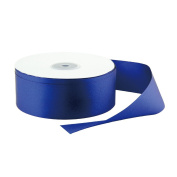 VATIN 2.5cm - 1.3cm Wide 50-Yards Long Double Face Solid Satin Ribbon Roll, Navy Blue