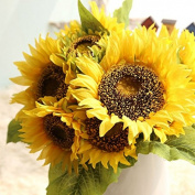 Fangfang Artificial Sunflowers Flowers Bouquet For Home Decoration Wedding Decor