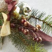 Factory Direct Craft Group of 4 Glittery Artificial Pine and Glitzy Pomegranate Sprays For Holiday Arranging and Embellishing