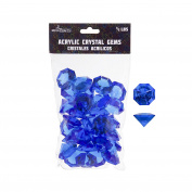 Mega Crafts 0.2kg Acrylic Large Diamonds Dark Blue | Plastic Glass Gems For Arts And Crafts, Vase Fillers And Table Scatters, Decoration Stones, Shiny Pebbles