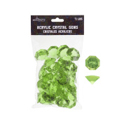 Mega Crafts 0.2kg Acrylic Large Diamonds Light Green | Plastic Glass Gems For Arts And Crafts, Vase Fillers And Table Scatters, Decoration Stones, Shiny Pebbles