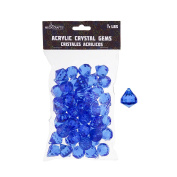 Mega Crafts 0.2kg Acrylic Gemstones Dark Blue | Plastic Glass Gems For Arts And Crafts, Vase Fillers And Table Scatters, Decoration Stones, Shiny Pebbles