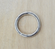 10 pk 3.2cm Rings Solid Steel Nickel Plated Leather