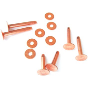 New Assorted Copper Rivets & Burrs 12 Piece Set By Hill Leather Company