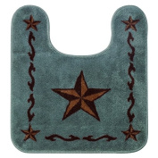 HiEnd Accents Western Turquoise Star Contour Rug