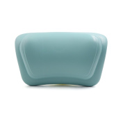 uxcell 30cm x 18cm Luxury Spa Bath Pillow with Suction Cups Fits All Types of Bathtub Blue