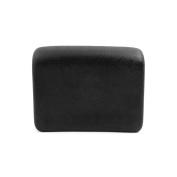 uxcell 19cm x 12cm Foam Spa Bath Pillow Neck Back Support Bathtub Cushion w/ Suction Cup Black
