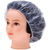 LQZ(TM)100 PCS Clear Disposable Plastic Shower Caps Large Elastic Bath Cap For Spa ,Home Use,Hotel and Hair Salon