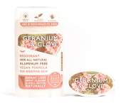 Live Beautifully Vegan Deodorant - Geranium & Clove - Aluminium Free