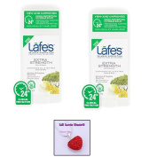 Lafe's Natural Deodorant Stick EXTRA STRENGTH (2 Pack) & Rhinestone Heart