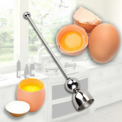 HUELE Stainless Steel Raw Eggshell Topper Cutter Egg shell Cracker Egg Opener Kitchen Tools Kitchen Gadgets