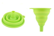 Silicone Gel Collapsible Foldable Funnel, Folding Funnels Hopper Kitchen Tool for Liquid, Oil, Powder Transfer