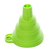Rurah Silicone Funnel , Practical Collapsible Foldable Hopper Kitchen Tools Gadget,Green