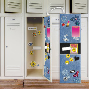 Denim School Supplies Locker Decal Decoration