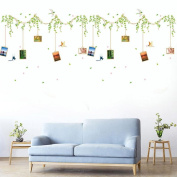 Tloowy DIY Tree Rattan Removable Wall Decal Family Home Sticker Mural Art Home Decor