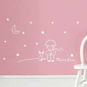 Dacawin(TM) Stars Moon The Little Prince Boy Wall Sticker Home Decor Wall Decals