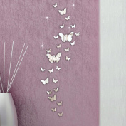Dacawin(TM) 30PC Butterfly Combination 3D Mirror Wall Stickers Home Decoration DIY