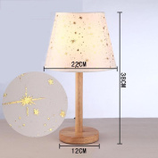 L@YC Simple Lamp Warm Bedside Study Bedroom Living Room Modern Home Solid Wood Quality art Deco Desk Lamp , as picture , A