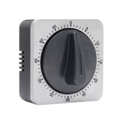 KeeQii Kitchen Timer 60 Minutes Timing with Loud Alarm Sound Home and Business Baking Cooking Steaming Stainless Steel Mechanical Timer