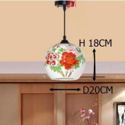 Stairs Lights Ceramic Pattern Chinese Porcelain Ceramic Pendant Lights Rotating Staircase Lamp Restaurant Pendant Lamps