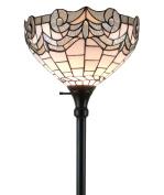 Amora Lighting AM265FL14 Colour Torchiere Floor Lamp 180cm Tall, White