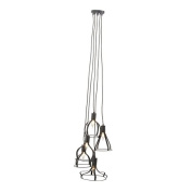 GwG Outlet Metal 5 Light Pendant with Bulb 46cm W, 150cm H 59298