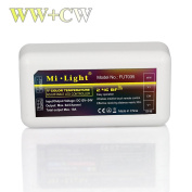 Mi.Light WW+CW LED Strip Light 2.4GHz RF Wilress 4-Zone Controller Receiver Box Must Work With Milight WW/CW Remote,Compatible With Milight Wifi iBox For Smartphone APP Control