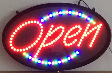 60cm X 36cm LED Open Sign Super Bright with Animation and Power (On/Off) Two Switch and Chain