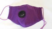 Organic Cotton M11 Cold and Flu Mask - Plum w/ Exhale Falve