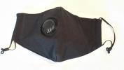Organic Cotton M11 Anti-virus Mask - Black w/ Exhaust Valve