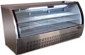 Commercial Deli Case Refrigerator with curved glass 200cm with LED lighting