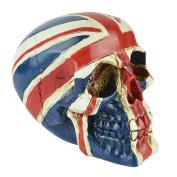 Berry President(TM) United Kingdom Flag Skull UK Tattoo Figurine Statue Union Jack