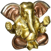 AapnoCraft Beautiful Ganesha Statue Bronze With Triple Finish Ganpati/God Of Luck Idols - Remover of Obstacles