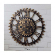 QBDS Wall Decorations LOFT Vintage Industrial Winds Clocks Clocks Creative Clocks Wall Decorations Cafe Bar Home Wall Decorative Wall Clock Decorative pendant