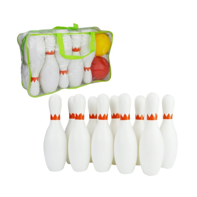 SOWOFA Kids Large HUGE! Sports Bowling Toys Play Sets For Kids Toddlers With 10Pcs Pins And 2 Balls Zipper Bag