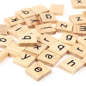 Trimming Shop Set Of 200 Wooden Scrabble Tiles Letters With 1 Rack Holder Set For Board Games, Wall Decor & Arts And Crafts