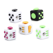 TEKIMBE 5Pcs Relieves Stress Cube Toys Anxiety Reducer Puzzles & Magic Rubik's Cube Toy for Children & Adults For ADD, ADHD, & OCD Relief