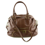 Made In Italy Genuine Leather Woman Handbag Colour Brown Tuscan Leather - Woman Bag
